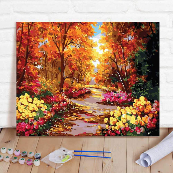 Paint By Numbers Custom Paint By Number Kits - Autum Forest