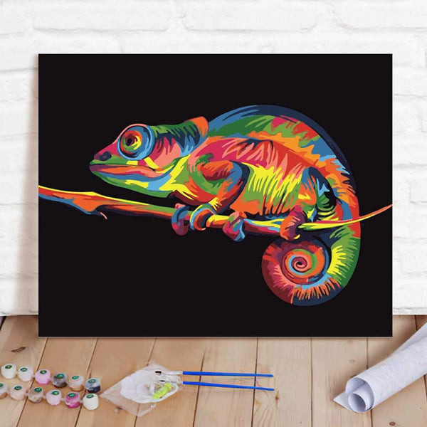 Paint By Numbers Custom Paint By Number Kits - Abstract Lizard