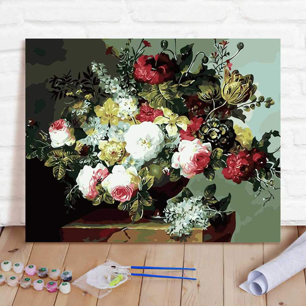 Paint By Numbers Custom Paint By Number Kits - Flowers