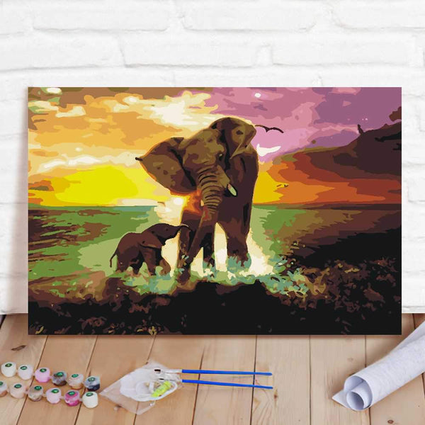 Paint By Numbers Custom Paint By Number Kits - Elephant