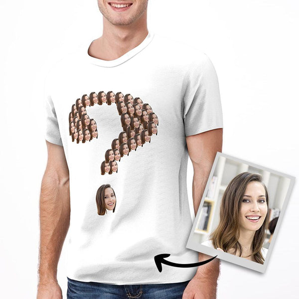 Custom Face Question Mark T-shirt