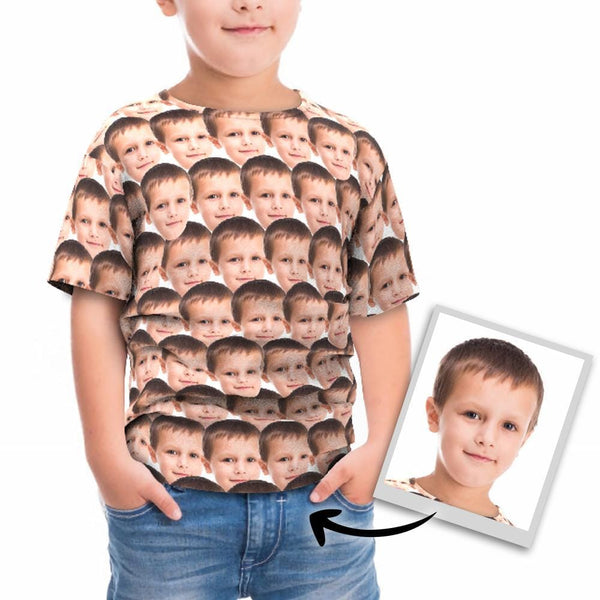Custom Faces Mash Kid Funny All Over Print T-shirt