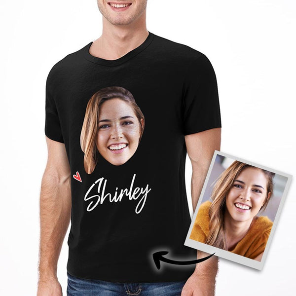 Custom Face T-shirt Photo Name Man T-shirt