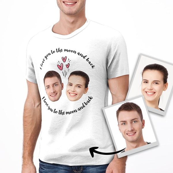Custom Love Faces T-shirt for Men and Women