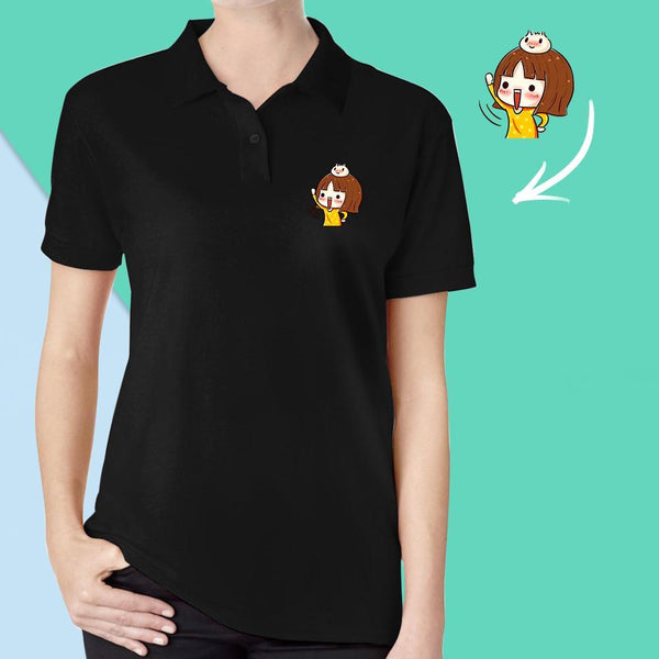 Custom Photo Polo Shirt Cute Shirt Gift for Girlfriend
