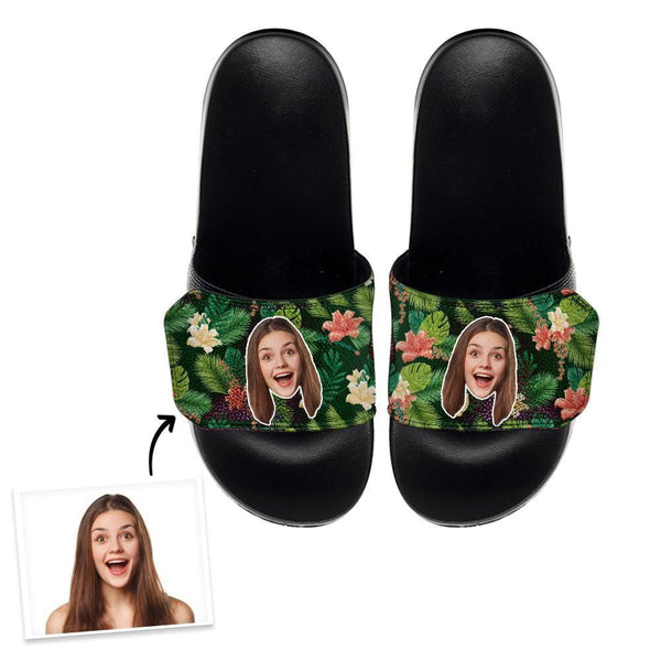 Custom Slide Sandals With Girlfriend Face - 9 Sizes
