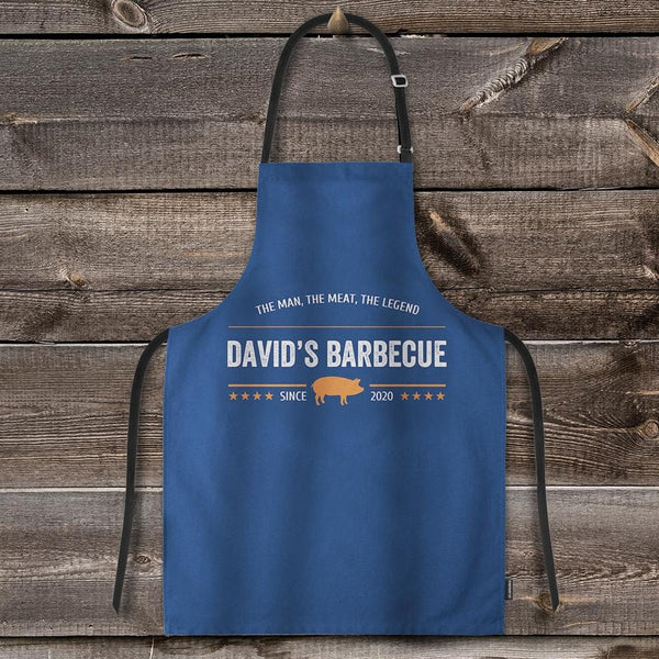 Apron Custom with Your Text Barbecue for Men