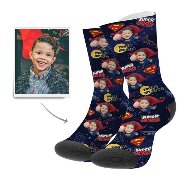 Custom Superhero Face Socks - MyPhotoSocks