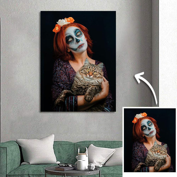 Custom Halloween Photo Wall Art Painting Canvas - 30*40cm