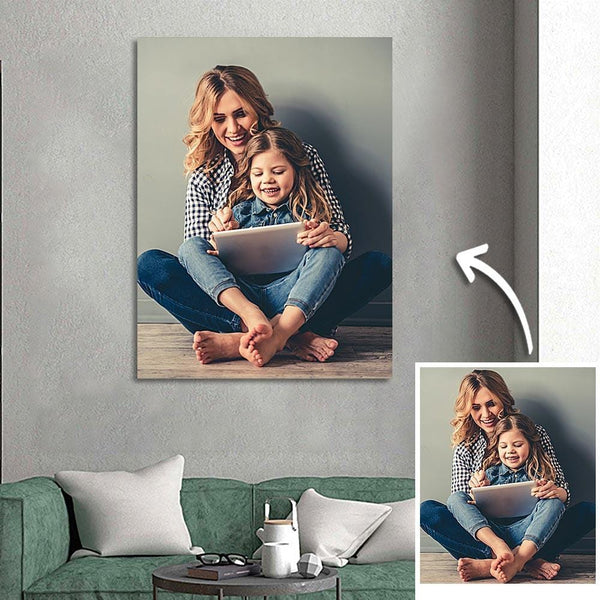 Custom Photo Canvas Gift For Mom- 30*40cm