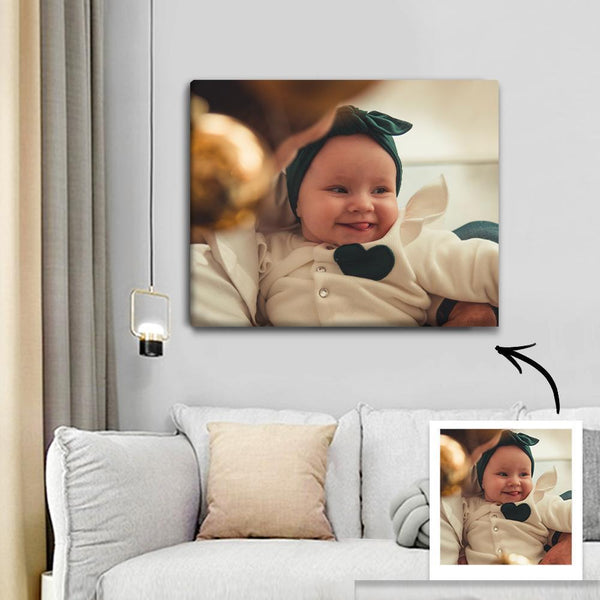 Custom Photo Canvas Prints With Frame Family Wall Decor 40*50cm