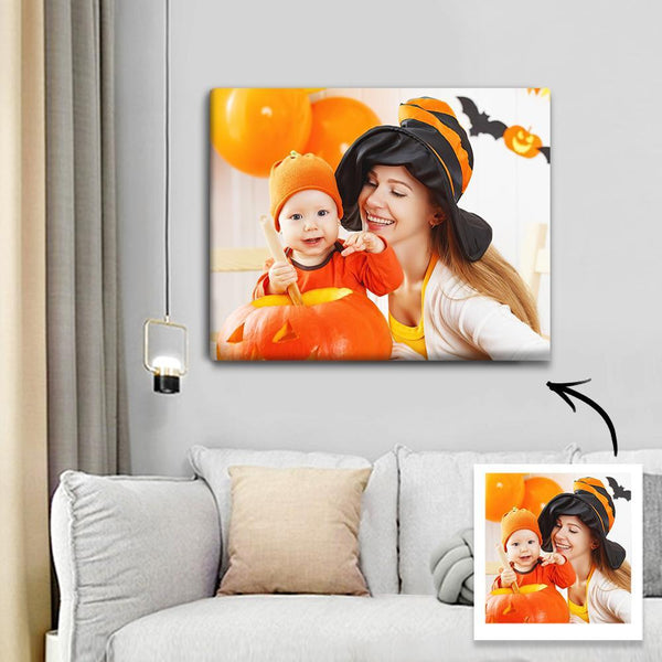 Custom Photo Canvas Print Halloween Canvas Print 30*25cm