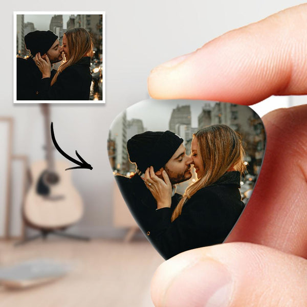 Personalized Guitar Pick with Photo for Musicians Customized for Boyfriend