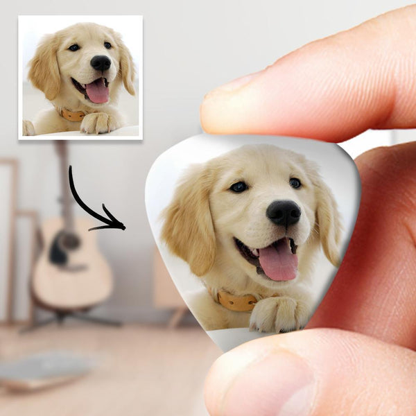 Personalized Guitar Pick with Photo For Pet - 12pcs