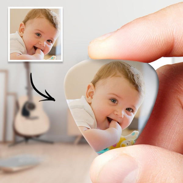 Personalized Guitar Pick with Photo for Baby - 12pcs
