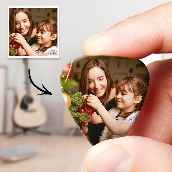 Personalized Guitar Pick with Photo Holiday gift - 12pcs