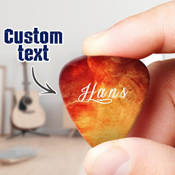 Custom Text Guitar Pick 6pcs s Set Gift for Music Lover