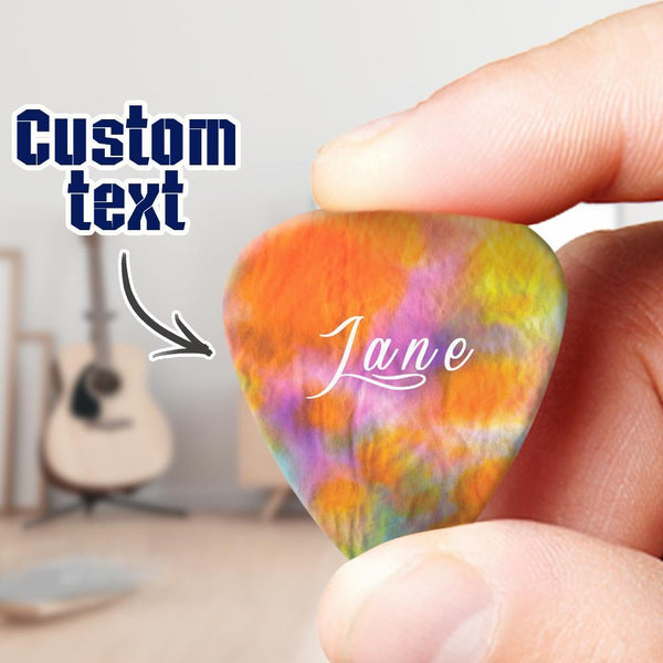 Custom Guitar Pick with Text 6pcs s Set
