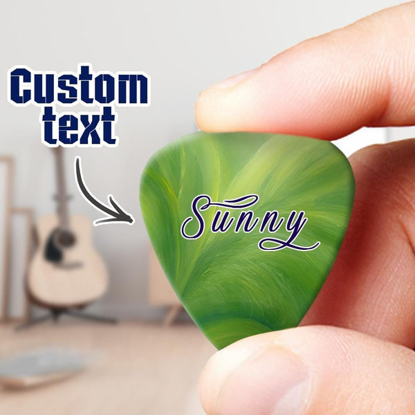 Custom Guitar Pick 6pcs with Text