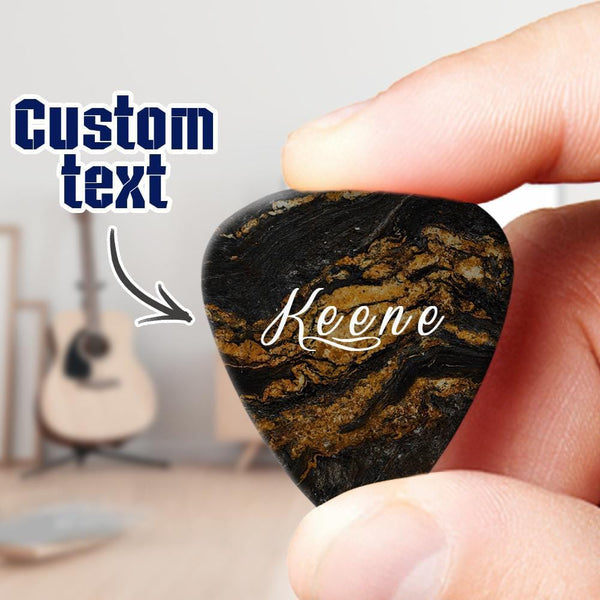 Engraved Guitar Pick 6pcs a Set