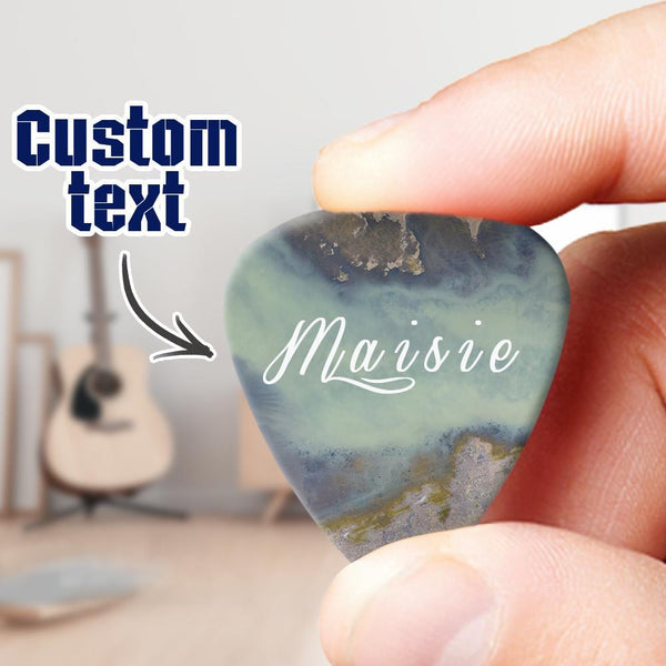 Custoom Engraved Guitar Pick Exquisite Gifts 6pcs