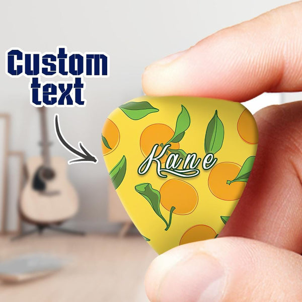 Custom Engraved Guitar Pick Lemon 6pcs