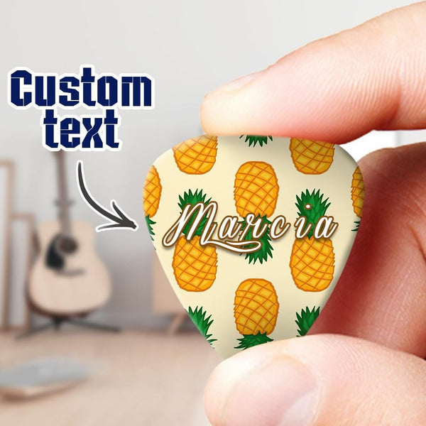Custom Engraved Pineapple Guitar Pick 6pcs