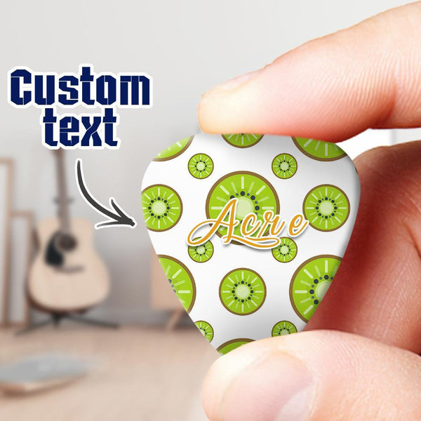 Engraved Guitar Pick 6pcs with Kiwi