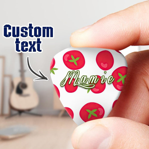 Engraved Guitar Pick Tomato 6pcs a Set