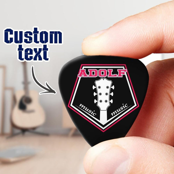 Engraved Guitar Pick 6pcs a Set Punk