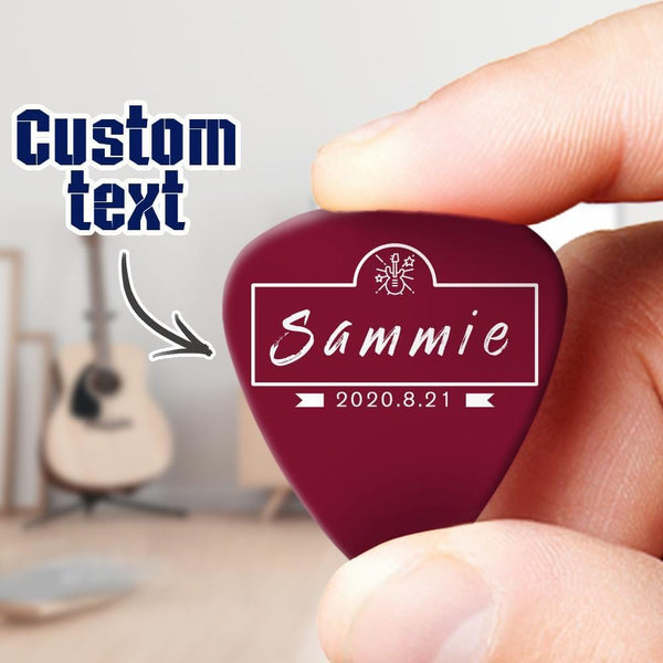 Custom Engraved Guitar Pick Gift for Music Lover 6pcs a Set