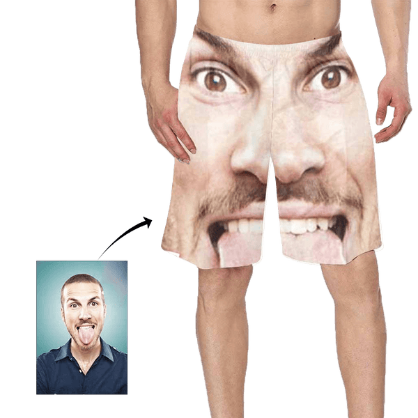 Custom Face Photo Men's Swim Trunk
