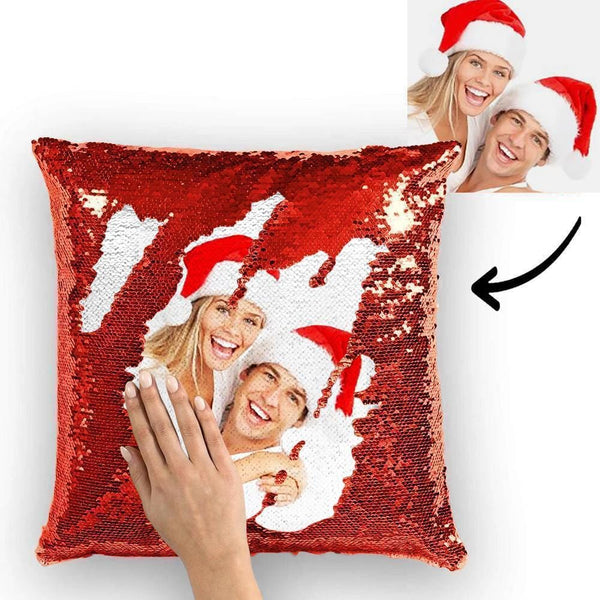 Custom Sequin Pillow Couple Magic Sequins Pillow Multicolor Shiny 15.75''*15.75'' Christmas Gifts