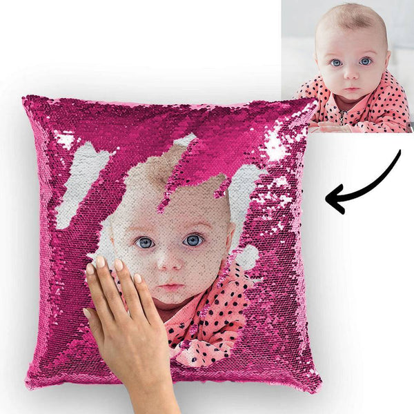 Personalized Photo Magic Sequins Pillow Multicolor Shiny 15.75''*15.75''