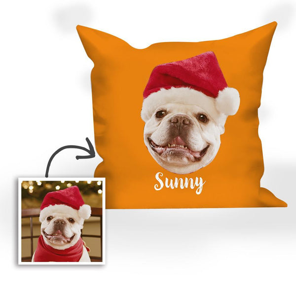 Christmas Gifts Custom Photo Pillow with Text