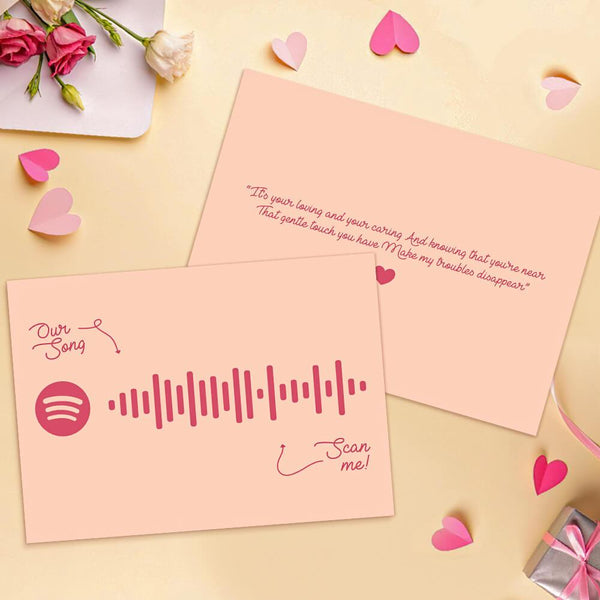 Custom Greeting Card Spotify Postcards Custom Postcards with Your Favorite Song