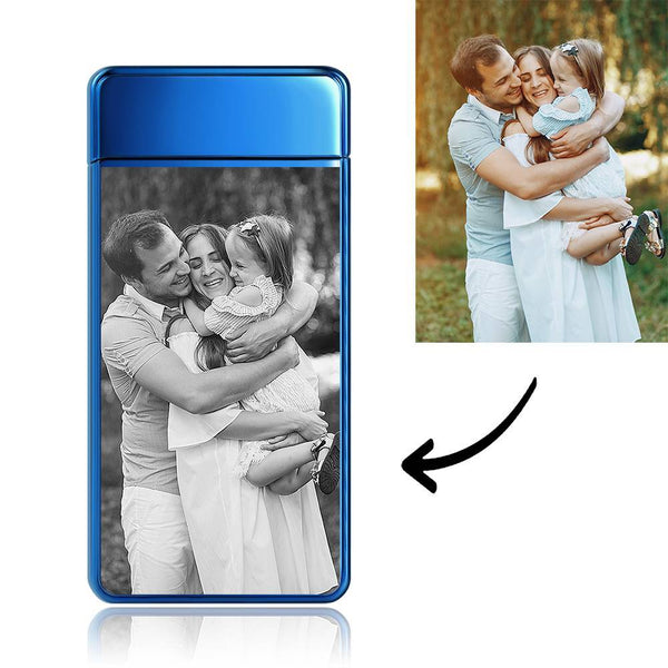 Engraved Photo Lighter For Parents Electronic Cigarette Lighter