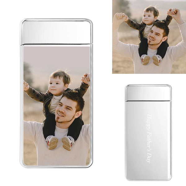 Custom Engraved Photo Father And Son Lighter