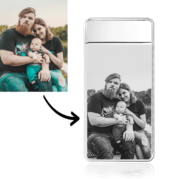 Photo Lighter Family Love Dad Electronic Lighter