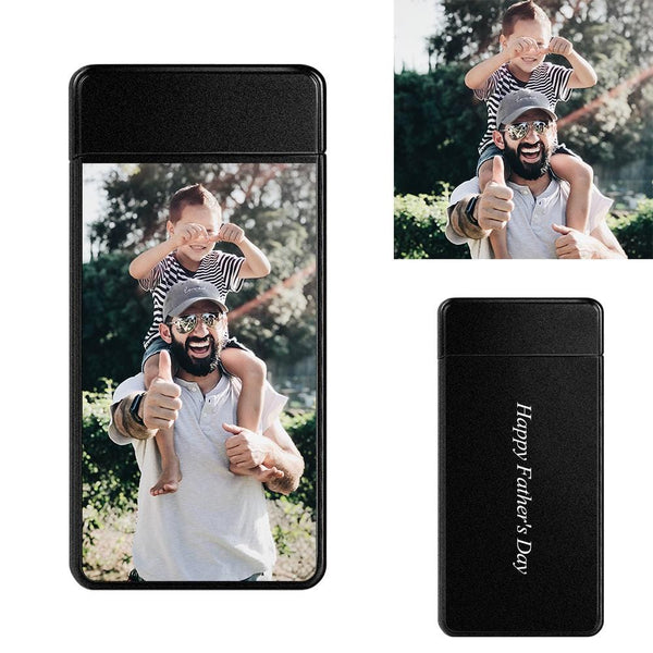 Custom Photo Lighter  Super Dad Electronic Cigarette Lighter