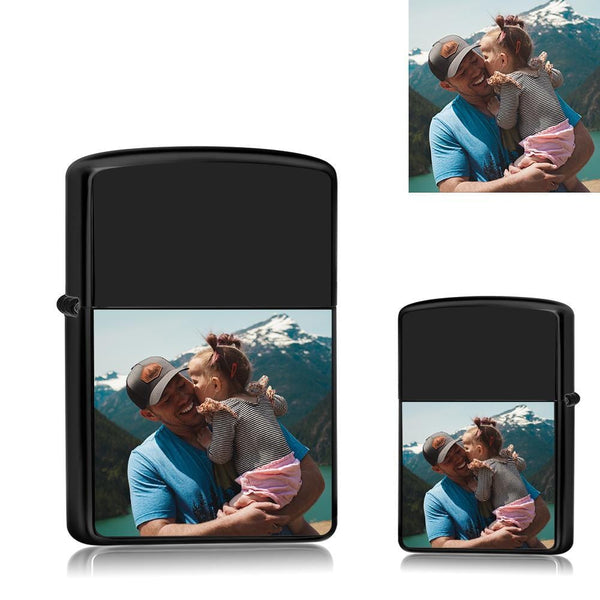 Custom Photo Lighter  Super Dad And Daughter Electronic Cigarette Lighter