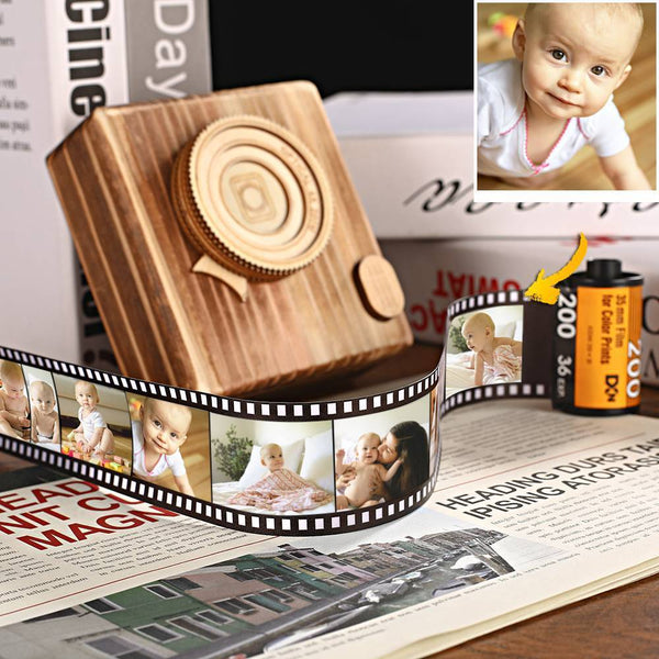 Personalized Multiphoto Colorful Camera Roll Home Decoration Gift for Mom