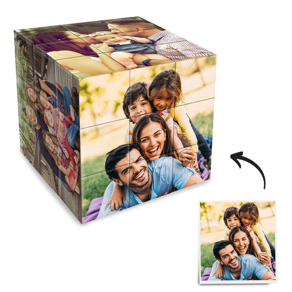 Custom Photo Rubik's Cube Love Dad& Mom Multiphoto Cube