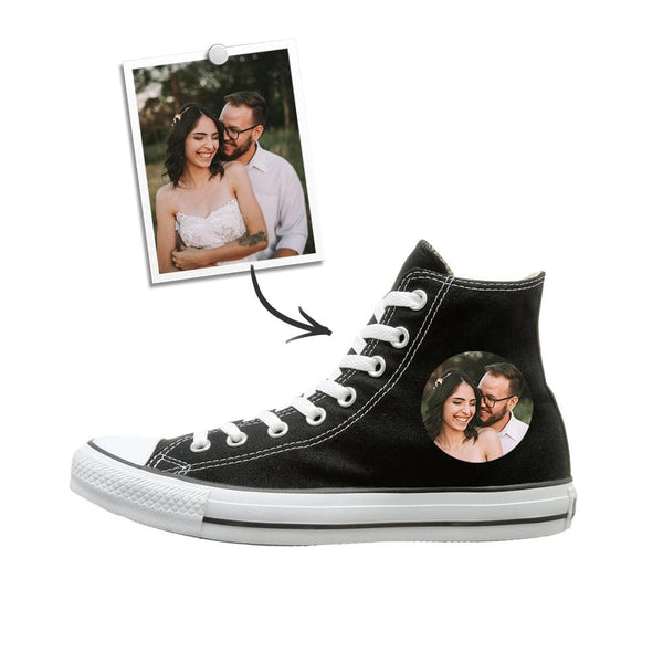 Custom Canvas Shoes Photo Canvas Shoes High Waist for Couple Gifts