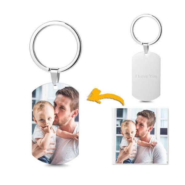 Father's Day Gifts Photo Keychain Birthday Gift For Him