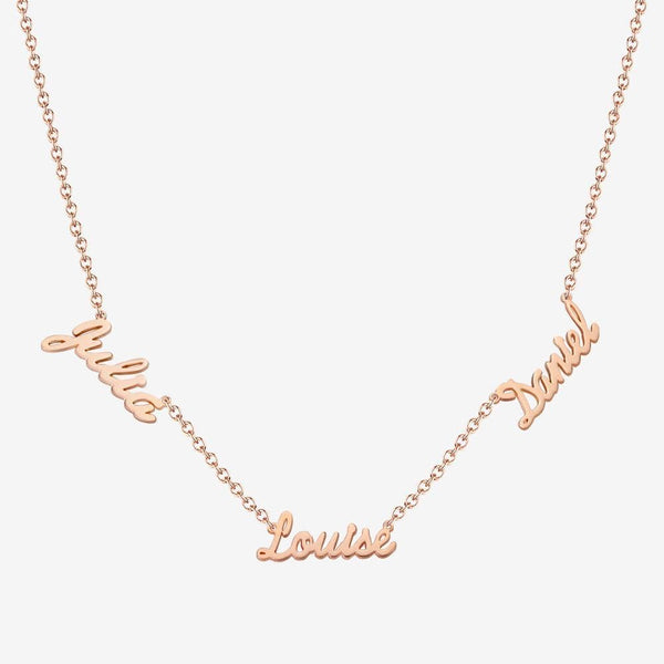 Personalized Three Name Necklace Elegant