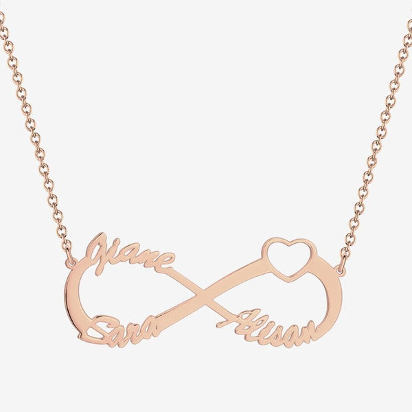 Infinity Three Name Necklace