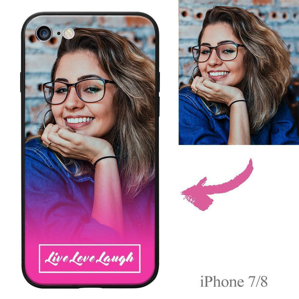 iPhone7/8 Custom Live Love Laugh Photo Protective Phone Case