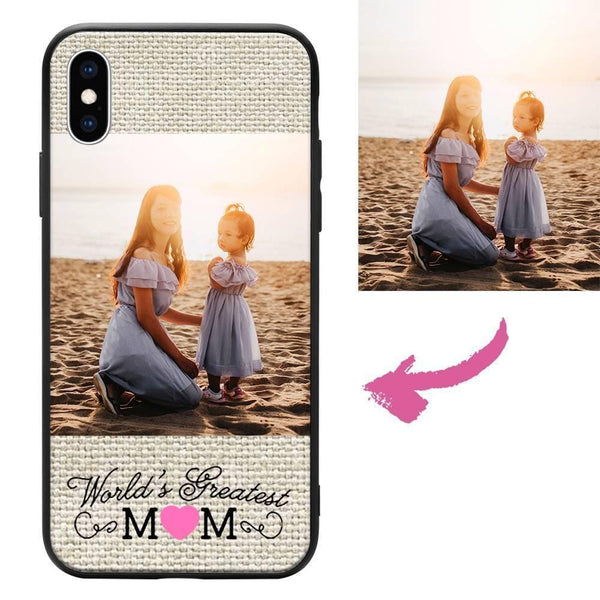 iPhoneXs Max Custom Mom Photo Protective Phone Case