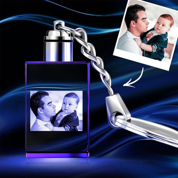 Custom Crystal Rectangle Photo Keychain